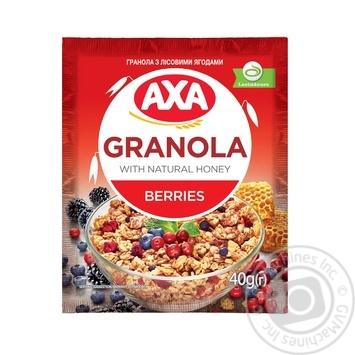 Завтраки сухие зерновые Гранола АХА с лесными ягодами 40г - купить, цены на МегаМаркет - фото 1