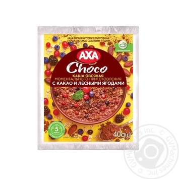 Каша овсяная АХА со сливками какао и лесными ягодами 40г - купить, цены на МегаМаркет - фото 1