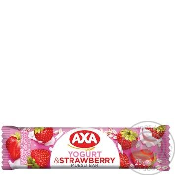 Батончик АХА зерновой йогурт с клубникой 25г - купить, цены на МегаМаркет - фото 1