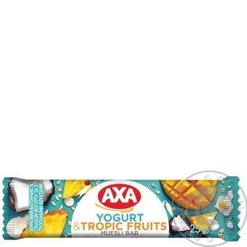 Батончик АХА зерновой йогурт с тропическими фруктами 25г - купить, цены на МегаМаркет - фото 1