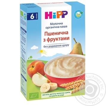 Каша детская ХиПП Нежные фрукты пшеничная био-молочная с 6 месяцев 250г - купить, цены на Ашан - фото 1