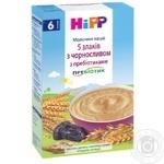 HiPP Milk multigrain porridge 5 grains with prune with prebiotics for 6+ months babies 250g