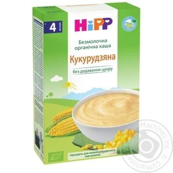 Каша Hipp кукурудзяна безмолочна органічна для дiтей з 4 мiсяцiв без додавання цукру 200г - купити, ціни на CітіМаркет - фото 1