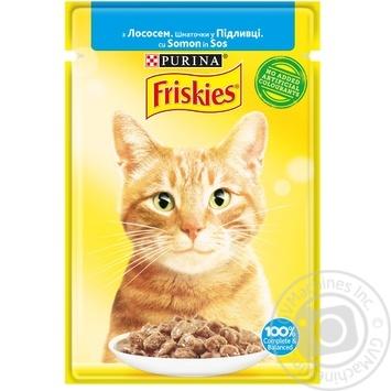 Корм для кошек Friskies с лососем кусочки в подливке 85г