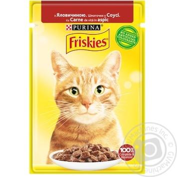 Корм Friskies для кошек с говядиной кусочки в соусе 85г