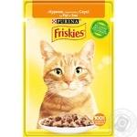 Корм для котів Friskies з куркою шматочки у соусі 85г