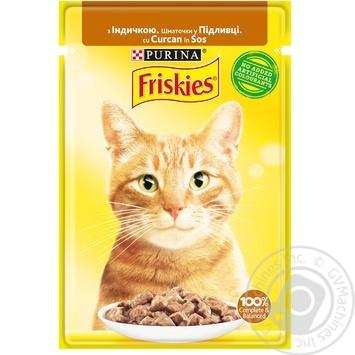 Корм для кошек Friskies с индейкой кусочки в подливке 85г