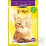 Корм для котів Friskies з ягням шматочки у соусі 85г