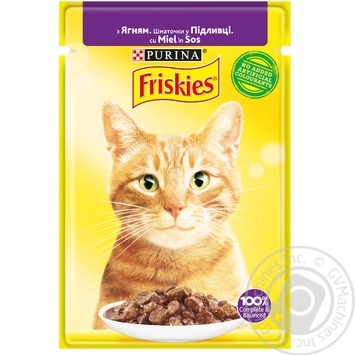 Friskies with lamb pieces in sauce for cats food 85g - buy, prices for Tavria V - image 1