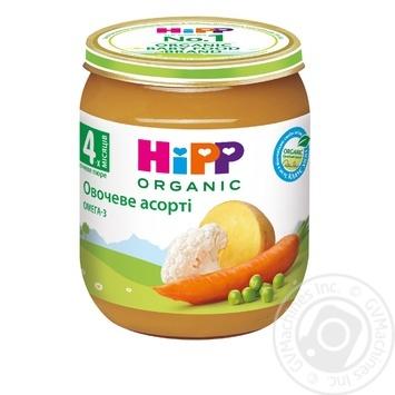 Пюре ХиПП овощное ассорти с омега-3 жирными кислотами для детей с 4 месяцев 125г - купить, цены на Novus - фото 1