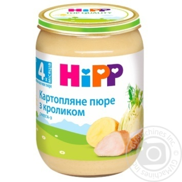 Пюре ХіПП Картопляне пюре з кроликом для дітей з 4 місяців 190г - купити, ціни на Ашан - фото 1