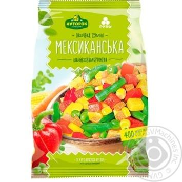 Суміш овочева Хуторок Селянський Мексиканська швидкозаморожена 400г