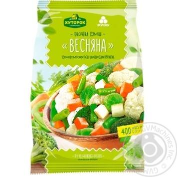 Овощная смесь Хуторок селянский Весенняя быстрозамороженная 400г - купить, цены на Фуршет - фото 1