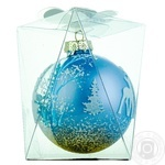 New Year's Glass Ball 8,5cm in assortment