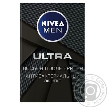 Лосьйон після гоління Nivea Men Ultra Антибактеріальний ефект 100мл - купити, ціни на МегаМаркет - фото 1