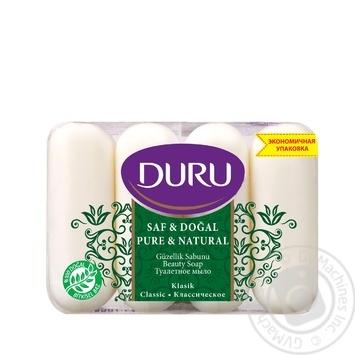 Мило Duru Pure and Natural екопак Класичне 4*85г - купить, цены на Novus - фото 1
