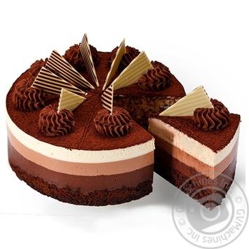 Торт Три шоколада - купить, цены на Novus - фото 1