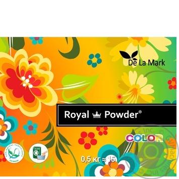 Порошок стиральный Delamark Royal Powder для цветного белья концентрированный бесфосфатный 500г