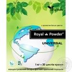 Delamark Royal Powder Laundry detergent flavored universal concentrated phosphate-free 1kg