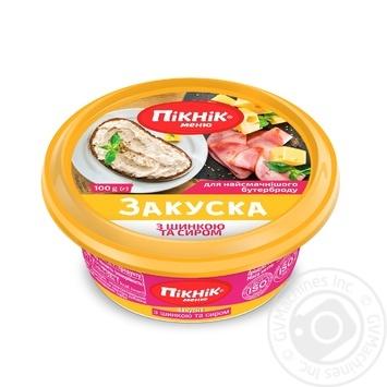 Закуска Пикник меню с шинкой и сыром для бутербродов 100г - купить, цены на Восторг - фото 1