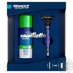Подарочный набор Gillette Пена для бритья 100 мл + Станок с сменной кассетой для чувствительной кожи