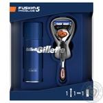 Набор подарочный Gillette Бритва с 1 сменной кассетой Fusion 5 ProGlide Flexball + Гель для бритья Ultra Sensitive 75 мл