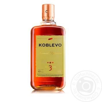Koblevo 3 stars brandy 40% 0,5l