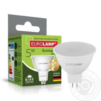 Лампа Eurolamp LED ЕКО D SMD MR16 5W 4000K GU5.3 - купить, цены на Ашан - фото 2