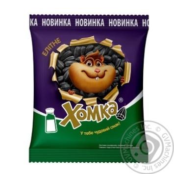 Семечки подсолнечника Хомка элитные жарен соленые 150г - купить, цены на Novus - фото 1