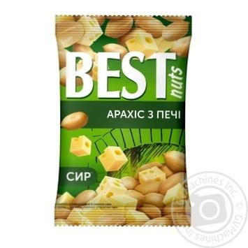 Арахис Best nuts из печи жареный соленый со вкусом сыра 80г