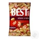 Арахис Best nuts из печи жареный соленый со вкусом бекона 80г