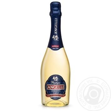 Вино ігристе КЗШВ Angelli Prestigio біле напівсолодке 13,5 % 0,75л - купити, ціни на Novus - фото 1