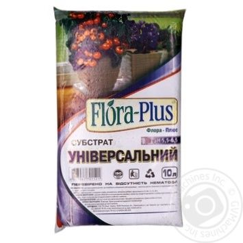 Субстрат Flora-Plus универсальный 10л - купить, цены на Ашан - фото 1