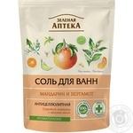 Сіль для ванни Зелена Аптека мандарин і бергамот 500г