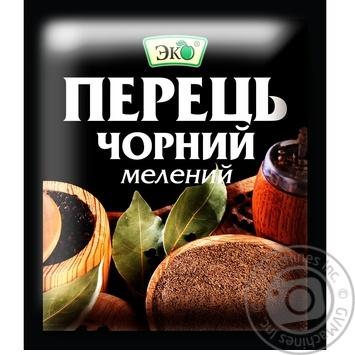 Перець Еко чорний мелений 10г - купити, ціни на Novus - фото 1