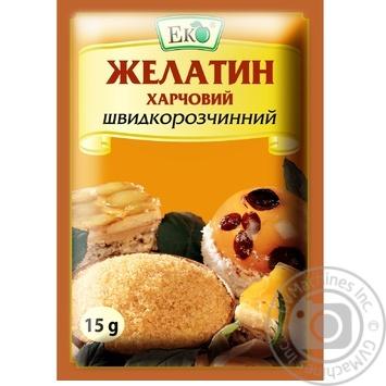 Желатин Эко пищевой быстрорастворимый 15г - купить, цены на Метро - фото 1