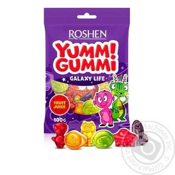 Roshen Yummi Gummi Galaxy Life mix jelly candy 100g