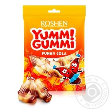 Конфеты желейные Roshen Yummi Gummi Funny Cola 100г