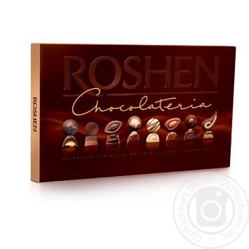Набор конфет Roshen Chocolateria шоколадные и пралиновые с начинками 194г - купить, цены на МегаМаркет - фото 1