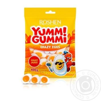 Цукерки желейні Roshen Yummi Gummi Crazy Eggs 100г