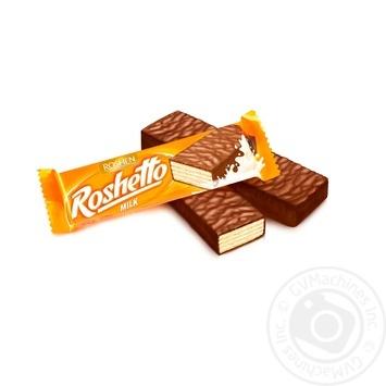 Батончик вафельний Roshen Roshetto Milk в молочно-шоколадній глазурі 32г