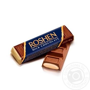 Батончик Roshen молочно-шоколадный с начинкой крем-брюле 43г
