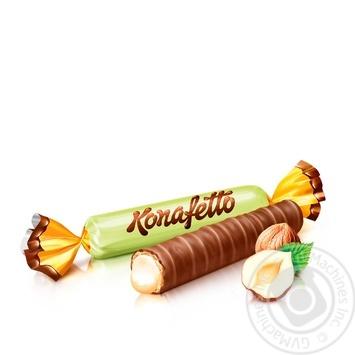 Цукерки Roshen Konafetto з начинкою крем-горіх вагові - купити, ціни на МегаМаркет - фото 1