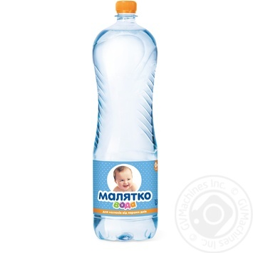 Still natural mineral water Malyatko for babies from birth 1500ml - buy, prices for Furshet - image 1