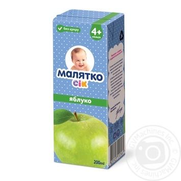 Malyatko for children from 4 months apple juice 200ml - buy, prices for Auchan - photo 1