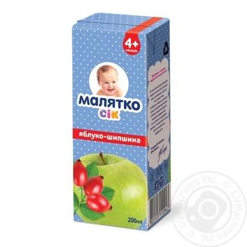 Сок Малятко яблоко-шиповник 200мл - купить, цены на Novus - фото 1