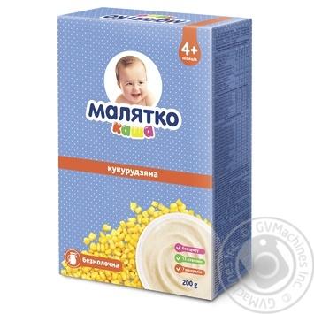 Malyatko Milk-free Corn Porridge 200g - buy, prices for CityMarket - photo 1