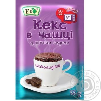 Суміш для випікання Еко Кекс в чашці з шоколадним соусом 55г - купити, ціни на ЕКО Маркет - фото 1