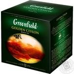 Чай Greenfield чорний Golden Ceylon 120пак - купити, ціни на Метро - фото 2