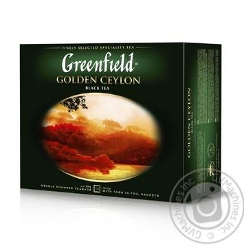 Чай Greenfield Golden Ceylon чорний цейлонський байховий дрібний в пакетиках 50*2г - купити, ціни на Метро - фото 1